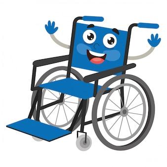 Illustration vectorielle de fauteuil roulant