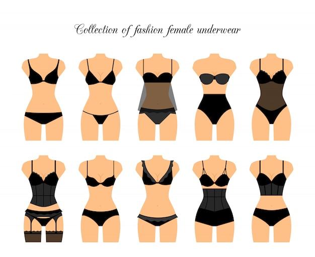 Illustration vectorielle de femmes shapewear ou sous-vêtements correcteurs