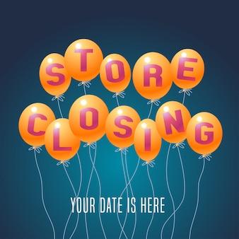 Illustration vectorielle de fermeture du magasin