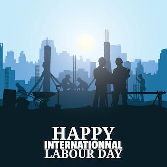 Illustration vectorielle de la fête du travail.