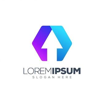 Illustration vectorielle de flèche logo
