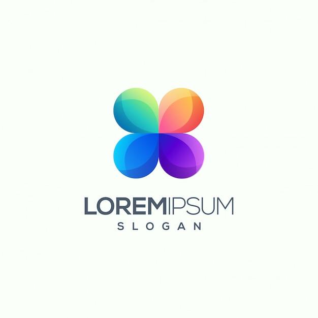Illustration vectorielle de fleur abstraite logo design prêt à l'emploi