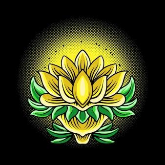 Illustration vectorielle de fleur de lotus