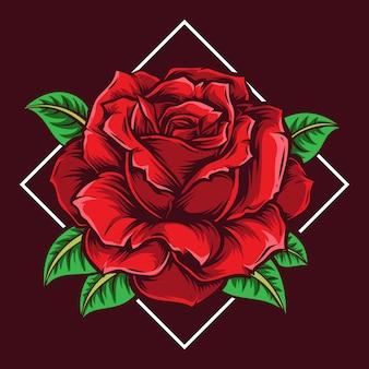 Illustration vectorielle fleur rose