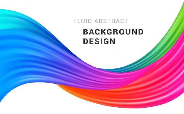 Illustration vectorielle de flux coloré moderne abstrait.