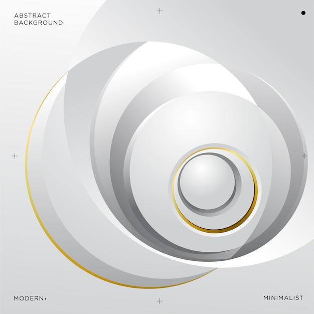 Illustration vectorielle de fond abstrait cercle blanc argent et or