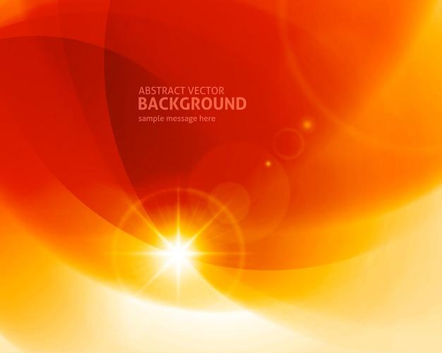 Illustration vectorielle de fond abstrait orange lignes lumineuses moderne