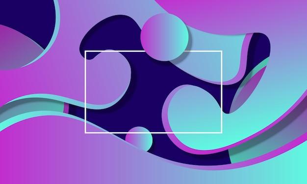 Illustration vectorielle de fond fluide dégradé violet et bleu