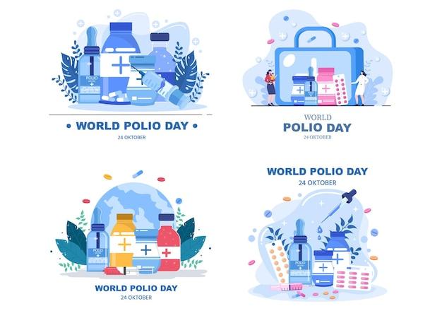 Illustration vectorielle de fond de la journée mondiale de la poliomyélite