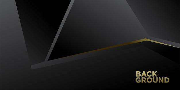 Illustration vectorielle fond minimaliste abstrait noir et or