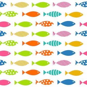 Illustration vectorielle de fond de modèle sans couture de poissons de mult
