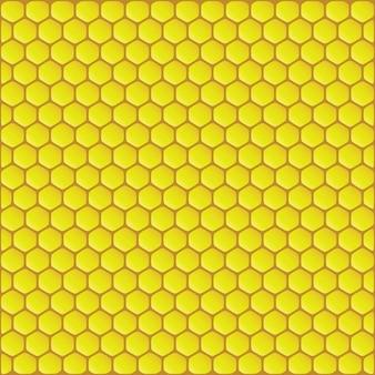 Illustration vectorielle de fond en nid d'abeille jaune