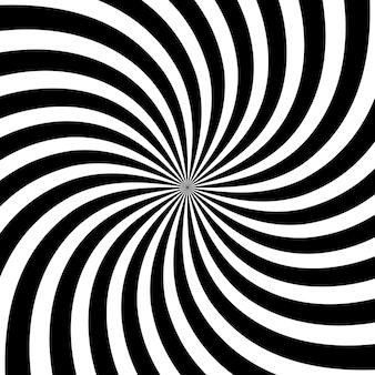 Illustration vectorielle de fond noir et blanc tourbillon