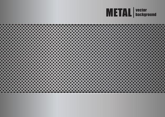 Illustration vectorielle: fond avec texture métallique réaliste.