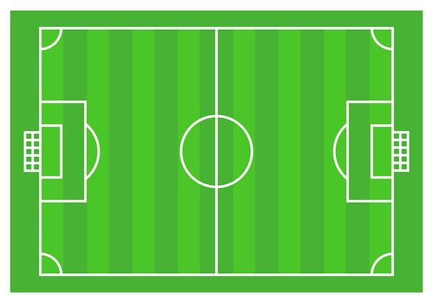 Illustration vectorielle de football plan au sol de base