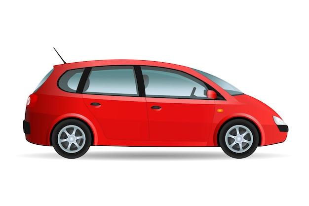 Illustration vectorielle d'une fourgonnette, voiture familiale
