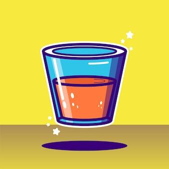 Illustration vectorielle de fruits jus d'orange