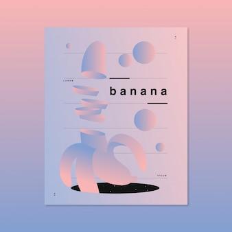 Illustration vectorielle futuriste d'une banane