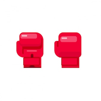 Illustration vectorielle de gants de boxe isolé