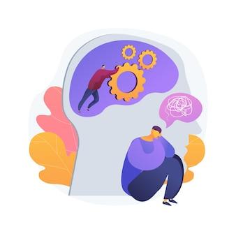 Illustration vectorielle de gaslighting concept abstrait. méthode de manipulation psychologique, déstabilisation mentale, création de dissonance cognitive, évolution des croyances, contradiction métaphore abstraite.