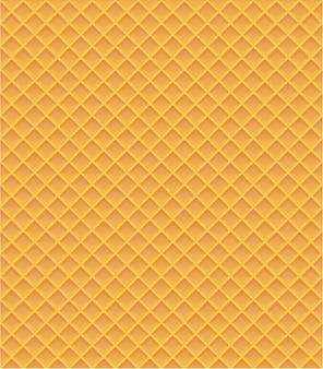 Illustration vectorielle de gaufres modèle sans couture