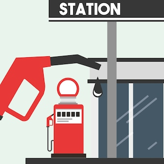 Illustration vectorielle de gaz station service industrie pétrolière