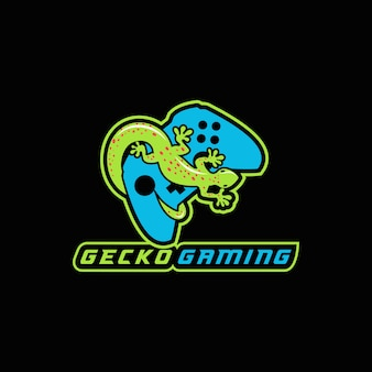 Illustration vectorielle de gecko gaming e sport