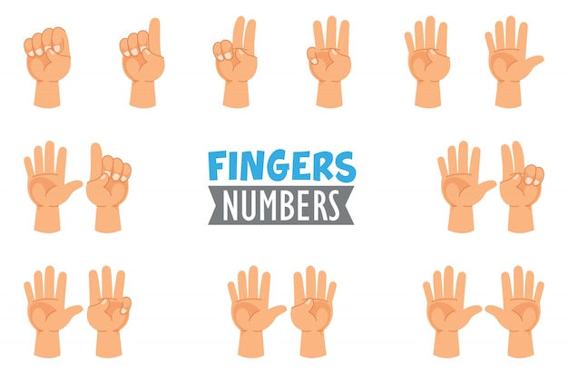 Illustration vectorielle des gestes de la main
