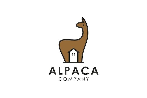 Illustration vectorielle de girafe maison logo icône design