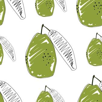 Illustration vectorielle de goyave plate fond transparent. fruits exotiques. modèle pour la conception d'un mode de vie sain. style scandinave. toile de fond d'été végétarien. art de la cuisine. affiche fraîche.