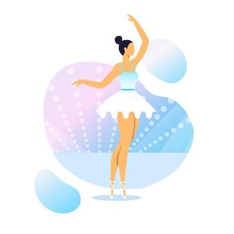 Illustration vectorielle de gracieuse ballerine performance