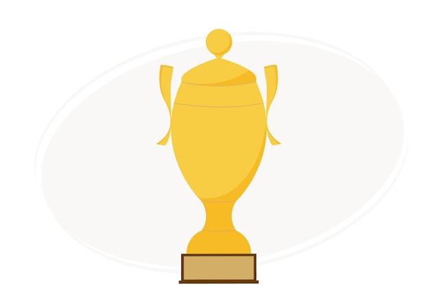 Illustration vectorielle d'une grande coupe dorée. prix pour le gagnant