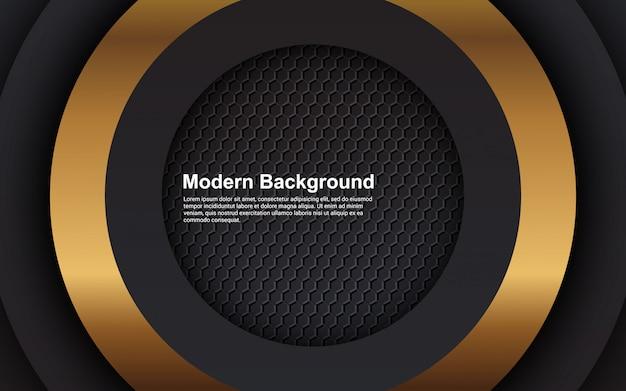 Illustration vectorielle graphique de fond abstrait luxe noir couches superposées modernes