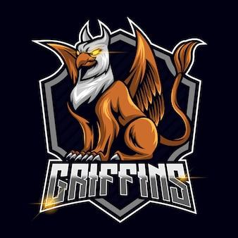 Illustration vectorielle de griffin esport logo modèle conception