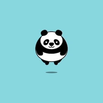 Illustration vectorielle de gros panda volant