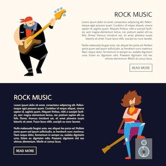 Illustration vectorielle de groupe de musique rock