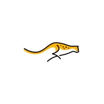 Illustration vectorielle de guépard logo