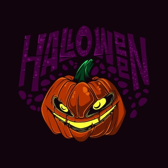 Illustration vectorielle halloween citrouille