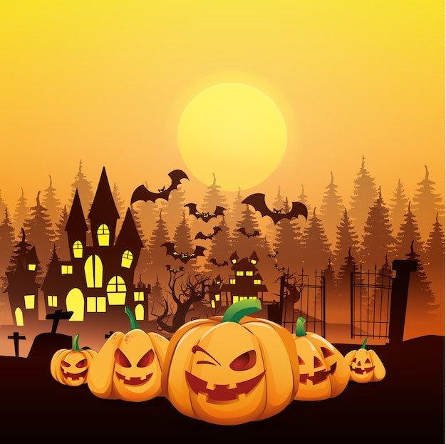 Illustration vectorielle de halloween.