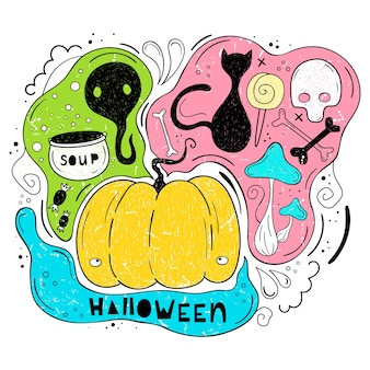 Illustration vectorielle de halloween