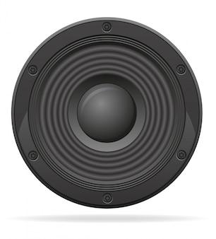 Illustration vectorielle haut-parleur acoustique