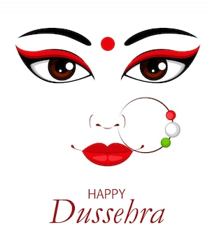 Illustration vectorielle heureux dussehra