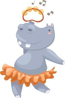 Illustration vectorielle hippo