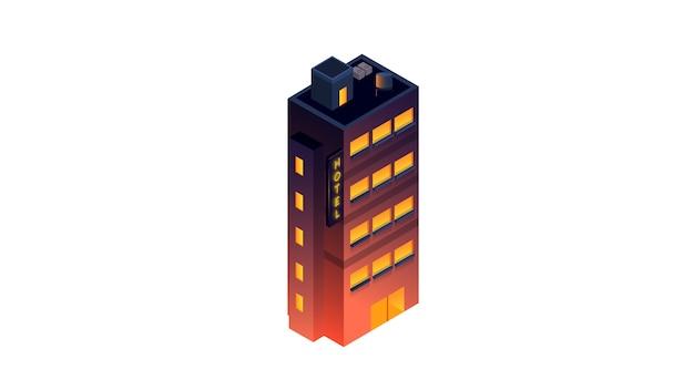 Illustration vectorielle hôtel isolé