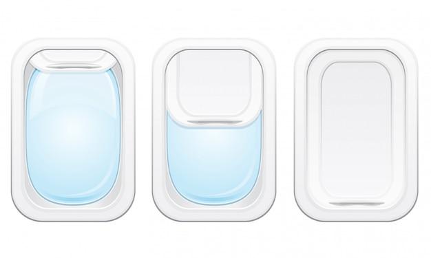 Illustration vectorielle de hublot d'avion