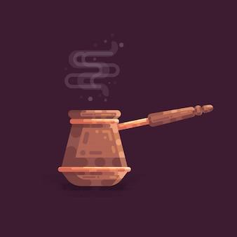 Illustration vectorielle d'ibrik coffee pot