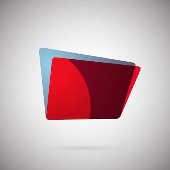 Illustration vectorielle de l'icône colorée dégradé géométrique abstrait