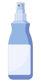 Illustration vectorielle de l'icône du tube de laque dans un style plat isolé sur fond blanc
