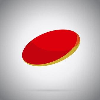 Illustration vectorielle de l'icône rouge dégradé géométrique abstrait rond