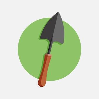 Illustration vectorielle de l'icône de travail d'outil agricole de pelle bonne pour l'icône d'agriculture ou de jardinage